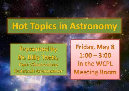 Hot Topics in Astonomy_May 8,2015