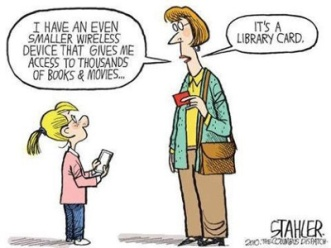 Library Card cartoon