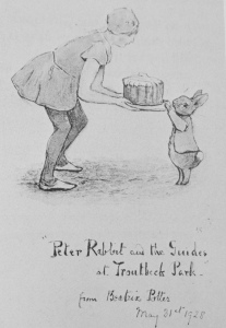 Peter Rabbit illustration by Beatrix Potter
