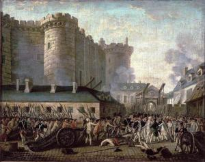 Storming of the Bastille and arrest of the Governor Bernard-René de Launay, 14 July 1789. Museum of the History of France, Versailles.