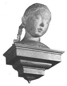 Marble sculpture of Virginia Dare formerly in St Bride's Church, Fleet St