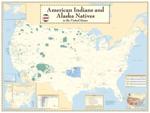 2010 American Indians and Alaska Natives in the United States Map from the U.S. Census Bureau