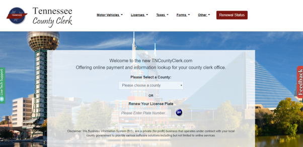 Williamson County Clerk Online Services Page